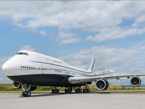 See inside the the world's largest private jet: a Boeing 747 with an interior so large it took 4 years to design and build