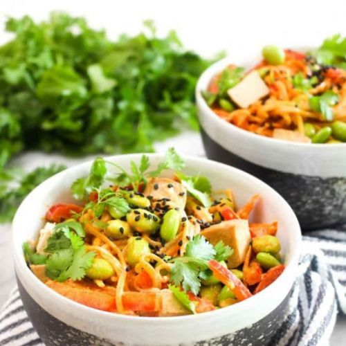 Thai Red Curry Soba Noodle Salad