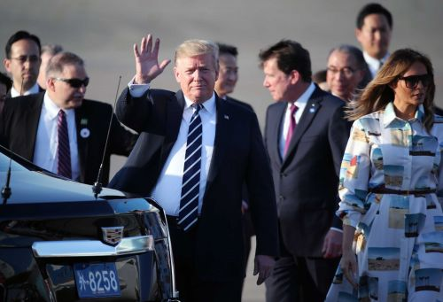 The Latest: Trump to address business leaders in Tokyo