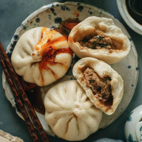Steamed Pork Buns with Chive