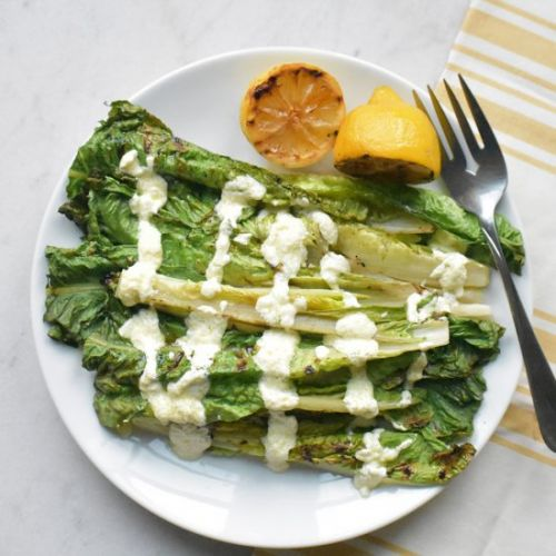 Grilled Romaine+Creamy Goat Cheese