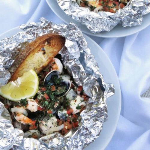 Grilled Seafood Packet