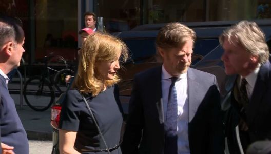 Watch: Felicity Huffman, William H. Macy arrive at Boston court
