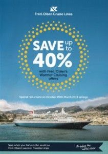 Only Two Weeks Left To Take Advantage Of Up To 40% Off Winter Sailings With Fred. Olsen's