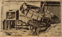 1607 Italian book with mills powered by water and animals