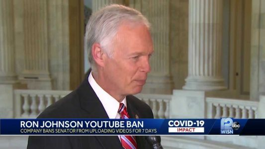 YouTube bans US Sen. Ron Johnson from posting videos for 7 days