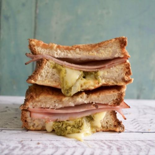 Ham, Cheese & Pesto Toasties