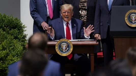 Trump Says Strong Economy Will Bring Racial Justice