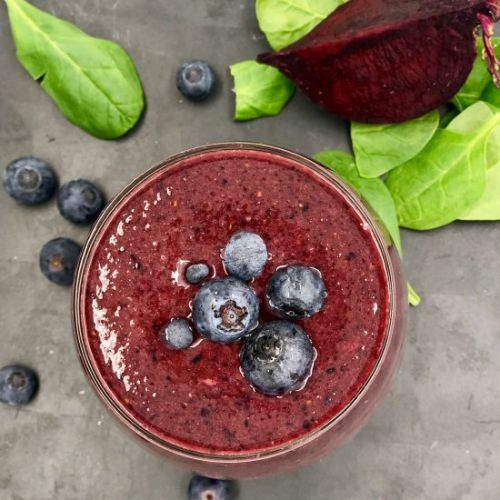 Beet Blueberry Vegan Smoothie