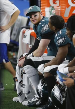 Carson Wentz sidelined by a back problem