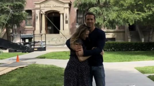 Pregnant Blake Lively Visits Husband Ryan Reynolds on the Set of His New Movie