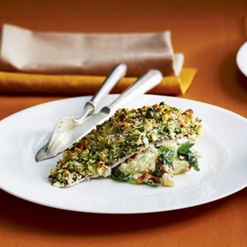 Snapper fillets with almond crust