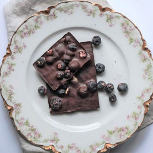 Blueberry Matcha Chocolate Bar