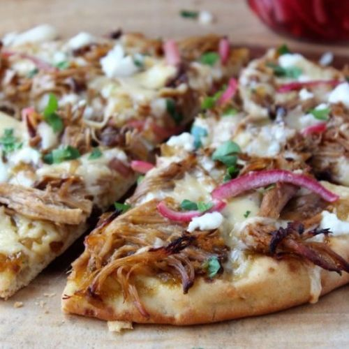 BBQ Pulled Pork Naan Pizzas