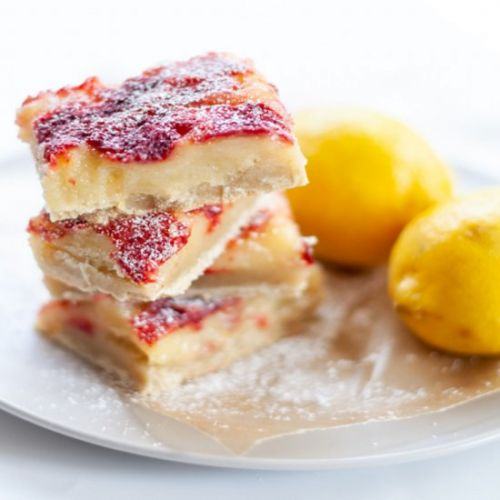 Strawberry Lemon Bars | Gluten Free