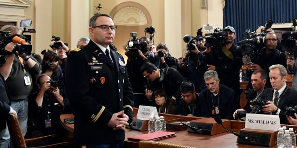 The Army is prepared to move Lt. Col. Vindman and his family to a safe location if necessary