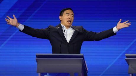 Buying votes? Yang announces he'll give 10 people $1,000 a month.but read the fine print first