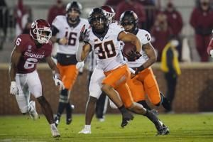 Oklahoma St. RB Hubbard out vs Texas Tech with leg injury