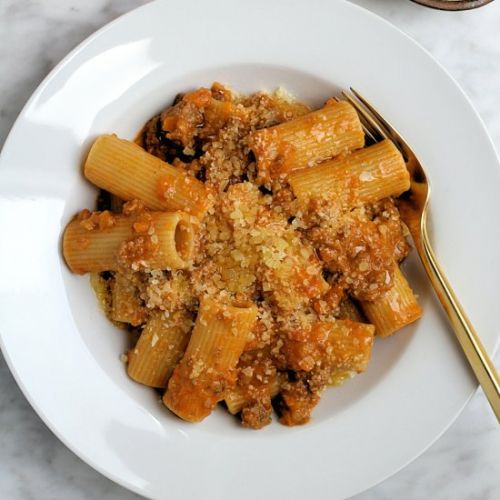 Rigatoni with Beef Bolognese