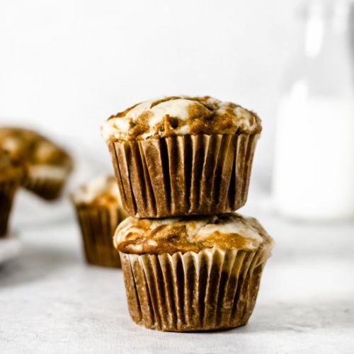 GF Pumpkin Cheesecake Muffins