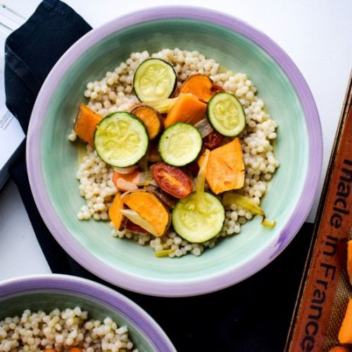 Israeli Couscous w/ Roasted Veggies