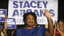 Old Photo Of Stacey Abrams Protesting Confederate Symbol On State Flag Resurfaces