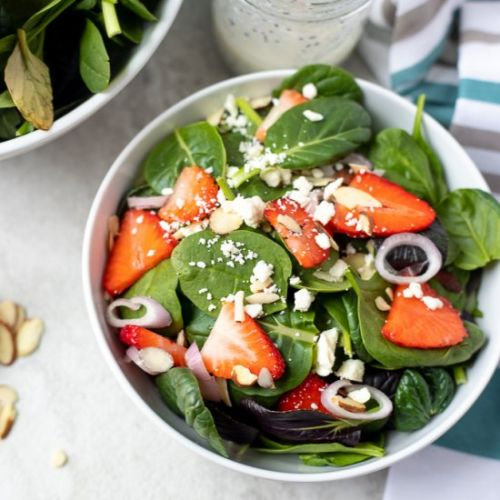 Strawberry Spinach Salad​