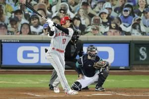 Angels' Ohtani homers in 1st at-bat since pitching shutdown