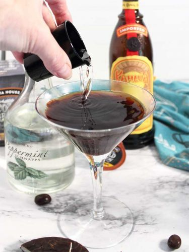 Peppermint Patty Cold Brew Cocktail