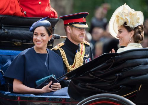 Meghan Markle Makes Surprise Trooping The Colour Appearance In Navy Givenchy