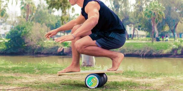 Work your core in your living room with a balance board