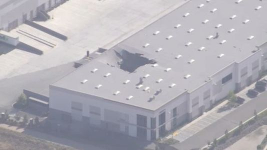 An F-16 Fighter Jet Fell Through the Roof of a California Warehouse
