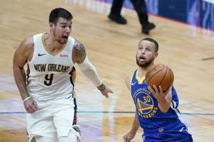 Curry's 41 points push Warriors past Pelicans 123-108