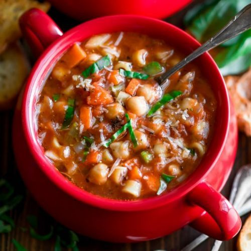 Chickpea Minestrone Soup