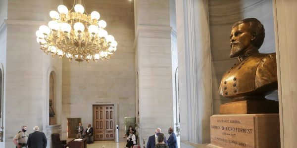 Bust of Confederate general and KKK leader Nathan Forrest removed from Tennessee Capitol building