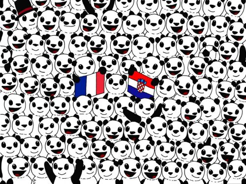People are struggling to find the soccer ball hidden in a sea of pandas in this viral World Cup brainteaser - can you spot it?