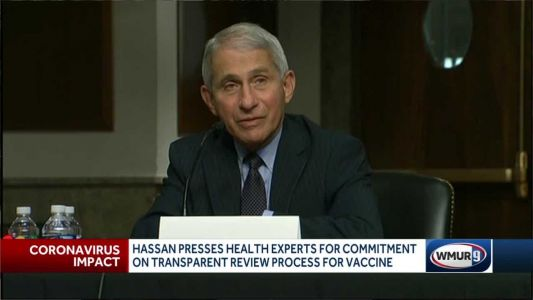 Dr. Fauci tells Hassan, Senate committee he has confidence in COVID-19 vaccine review process