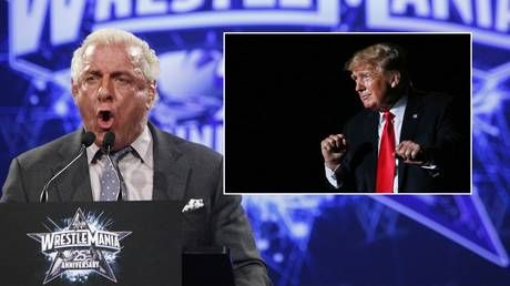 Calls for wrestling icon Flair to be canceled after he's named as host for Trump-held fundraiser