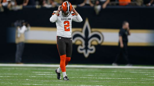 Social Media Reacts to Pair of Missed Field Goals by Browns Kicker Zane Gonzalez