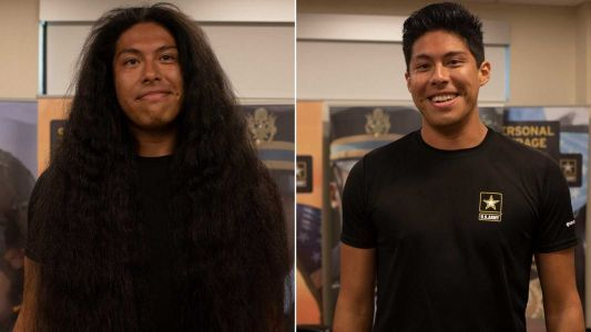 This man got his first haircut in 15 years so he could join the Army