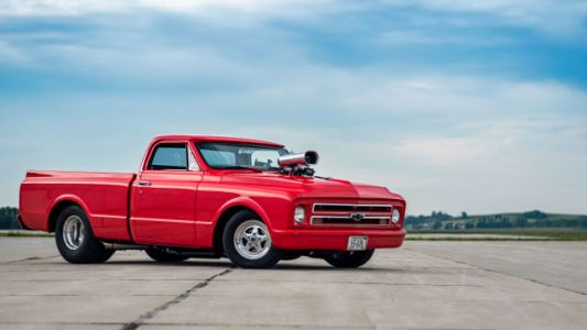 Your Supercharged, Super-Chopped '67 Chevy C10 Wallpapers Are Here