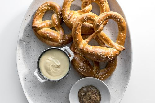 Traditional German Soft Pretzels Recipe with Beer Cheese