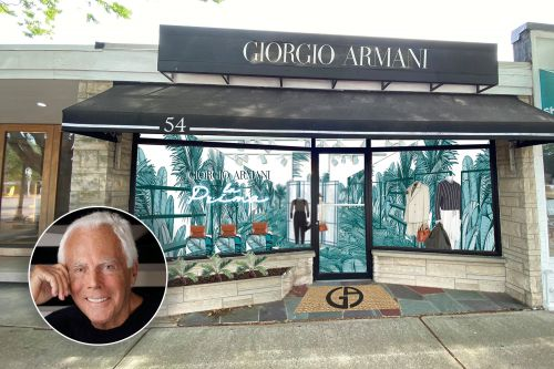 Giorgio Armani opens first Hamptons pop-up shop