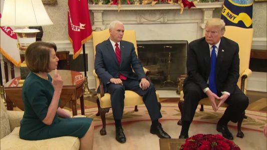 WATCH: Trump, Schumer, Pelosi have testy exchange over wall, shutdown