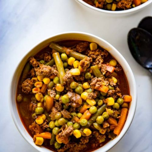 One Pot Vegetable Beef Soup