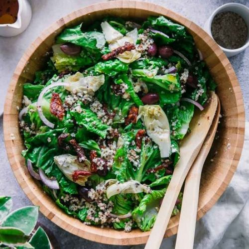 Simple Quinoa Greek Salad