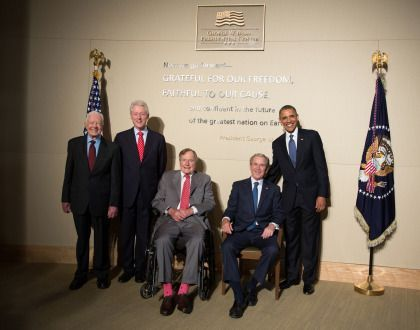 5 Former Presidents Attend Hurricane Relief Concert