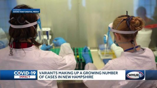 COVID-19 variants making up a growing number of cases in New Hampshire