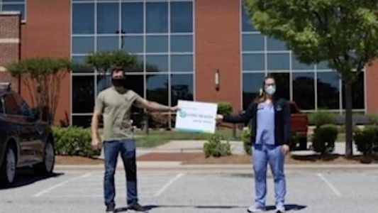 Brother drives from New Jersey to deliver N95 masks to his sister working at North Carolina hospital