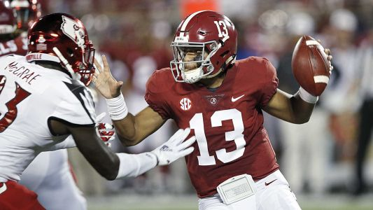 Tua Tagovailoa goes down in Alabama's game against Missouri